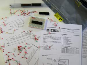Le MM5451 prêt à être testé.